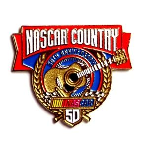 NASCAR Country 50th Anniversary 1998 Lapel Pin